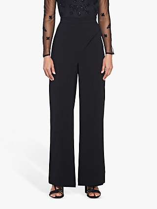 Adrianna Papell Crepe Trousers, Black