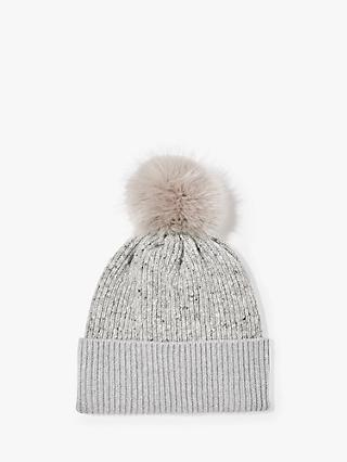 Jigsaw Donegal Block Pom Wool Hat