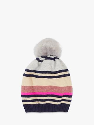 Jigsaw Modern Stripe Wool Hat, Multi