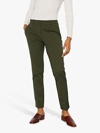 Jigsaw Paris Slim Tapered Trousers, Dark Olive