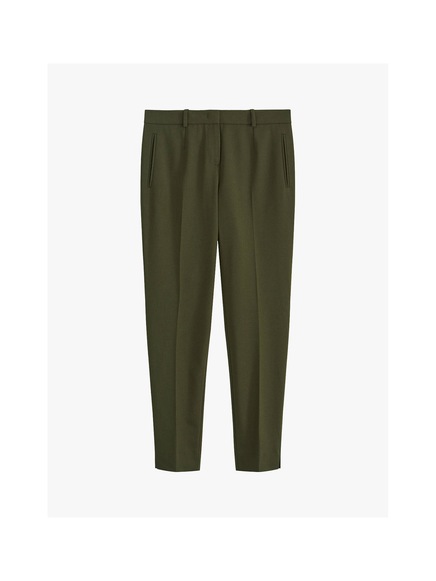 Buy Jigsaw Paris Slim Tapered Trousers, Dark Olive, 6 Online at johnlewis.com