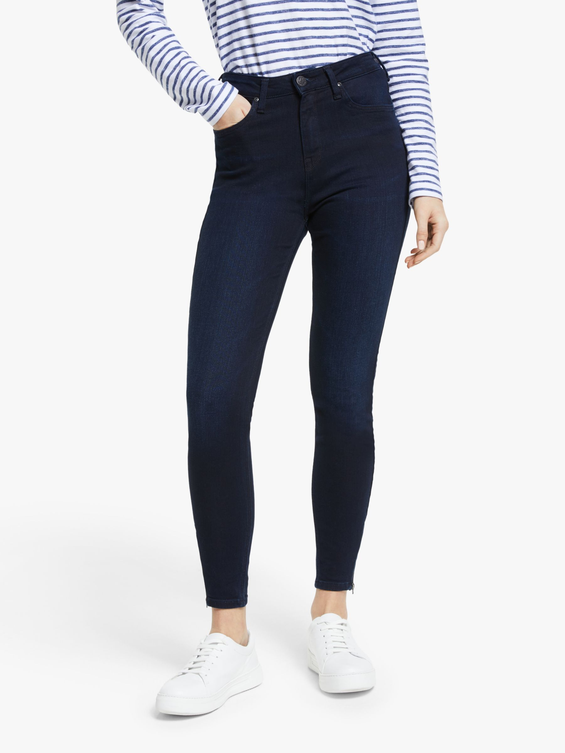 Lee Lee Scarlett High Waist Skinny Jeans, Mulberry