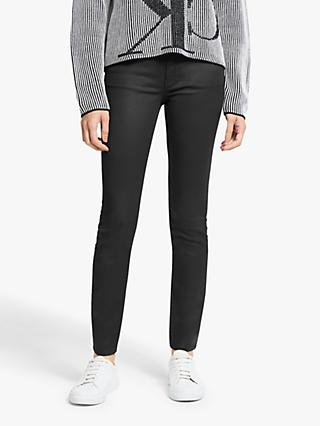 Calvin Klein Mid Rise Coated Skinny Jeans, Black