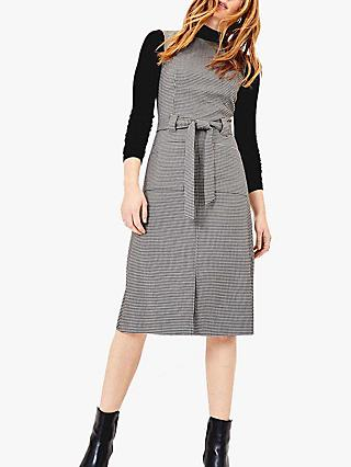 Oasis Dogtooth Shift Dress, Grey