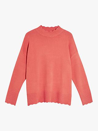Oasis Suzie Scallop Roll Neck Jumper