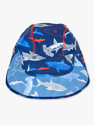 John Lewis & Partners Children's Shark Keppi Hat, Blue