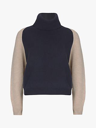 Mint Velvet Roll Neck Blocked Jumper