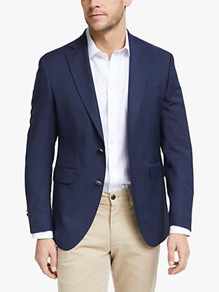 Hackett London Wool Blend Blazer with Gold Buttons, Navy