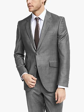 Hackett London Prince of Wales Check Slim Fit Suit Jacket, Grey