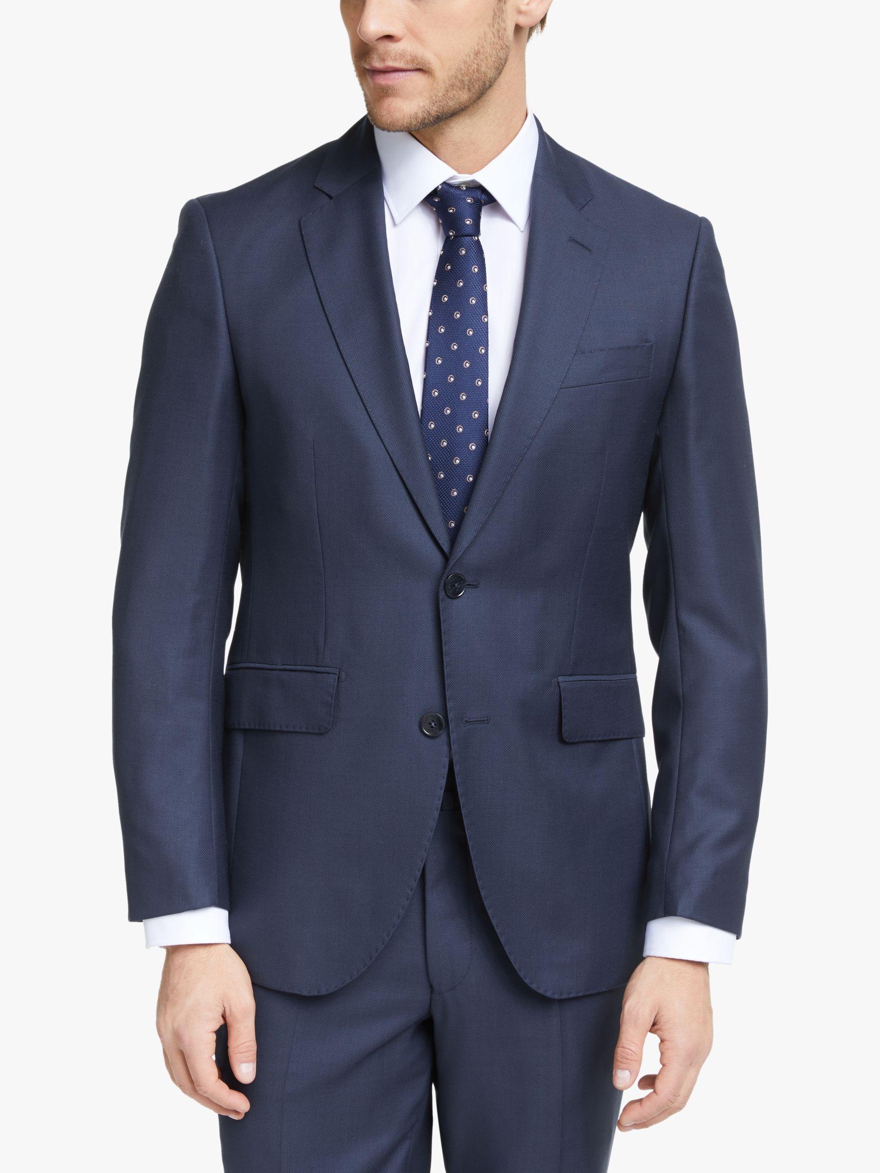 Hackett London Hackett London Birdseye Slim Fit Suit Jacket, Navy