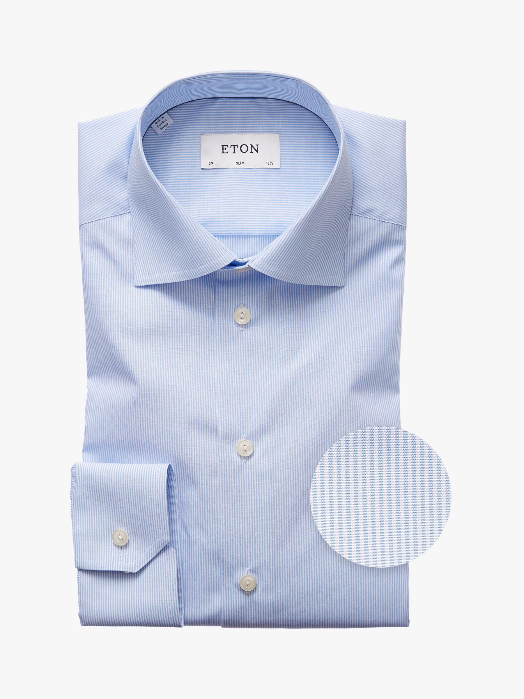Eton Eton Fine Stripe Slim Fit Shirt, Blue