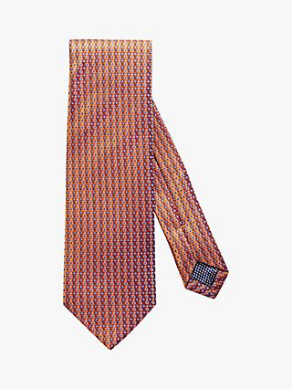 Eton Geometric Silk Tie, Orange