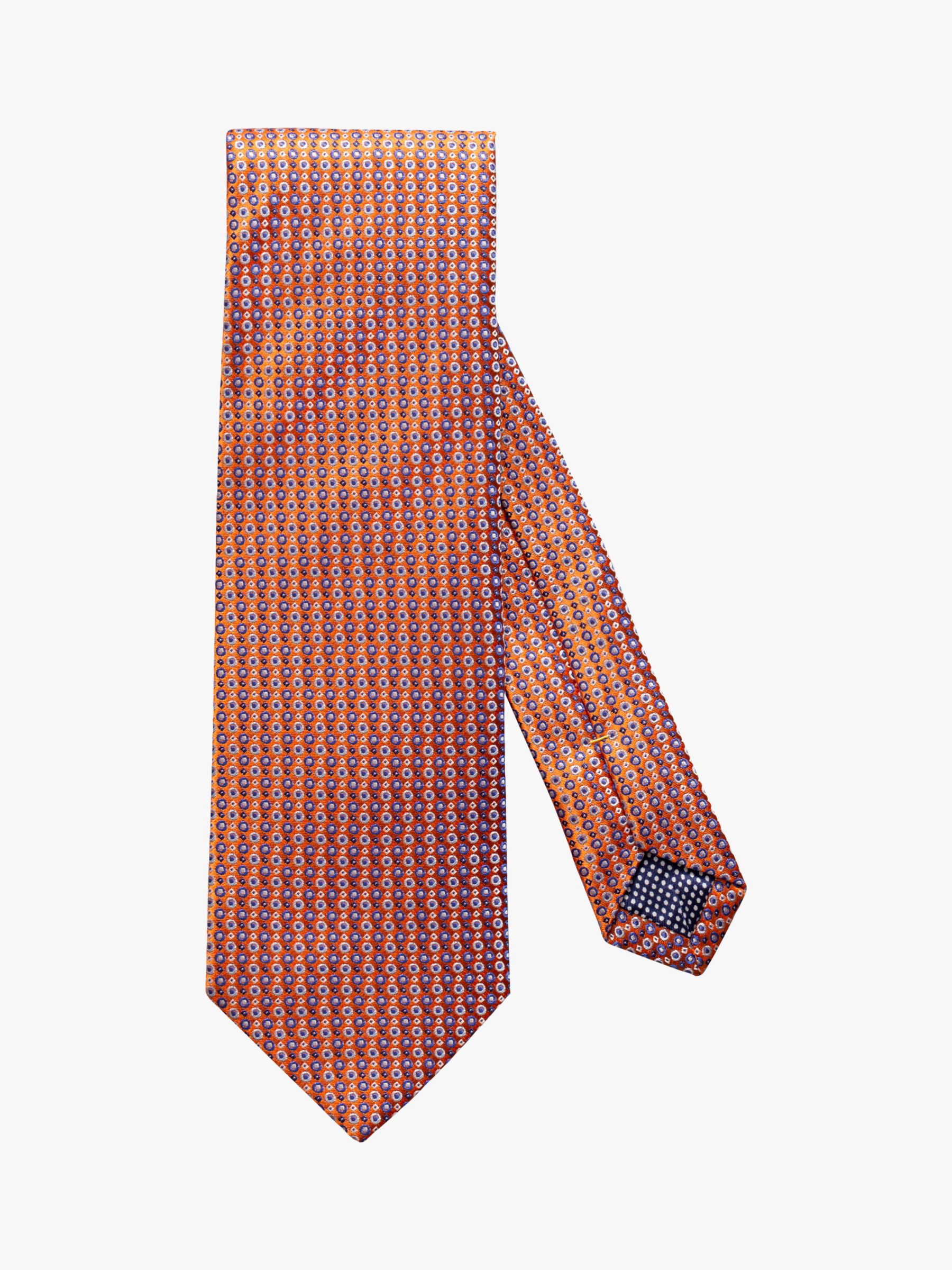 Eton Eton Geometric Silk Tie, Orange