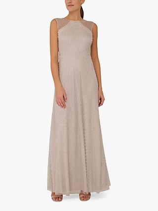 Raishma Nude Embellished Maxi Gown, Nude