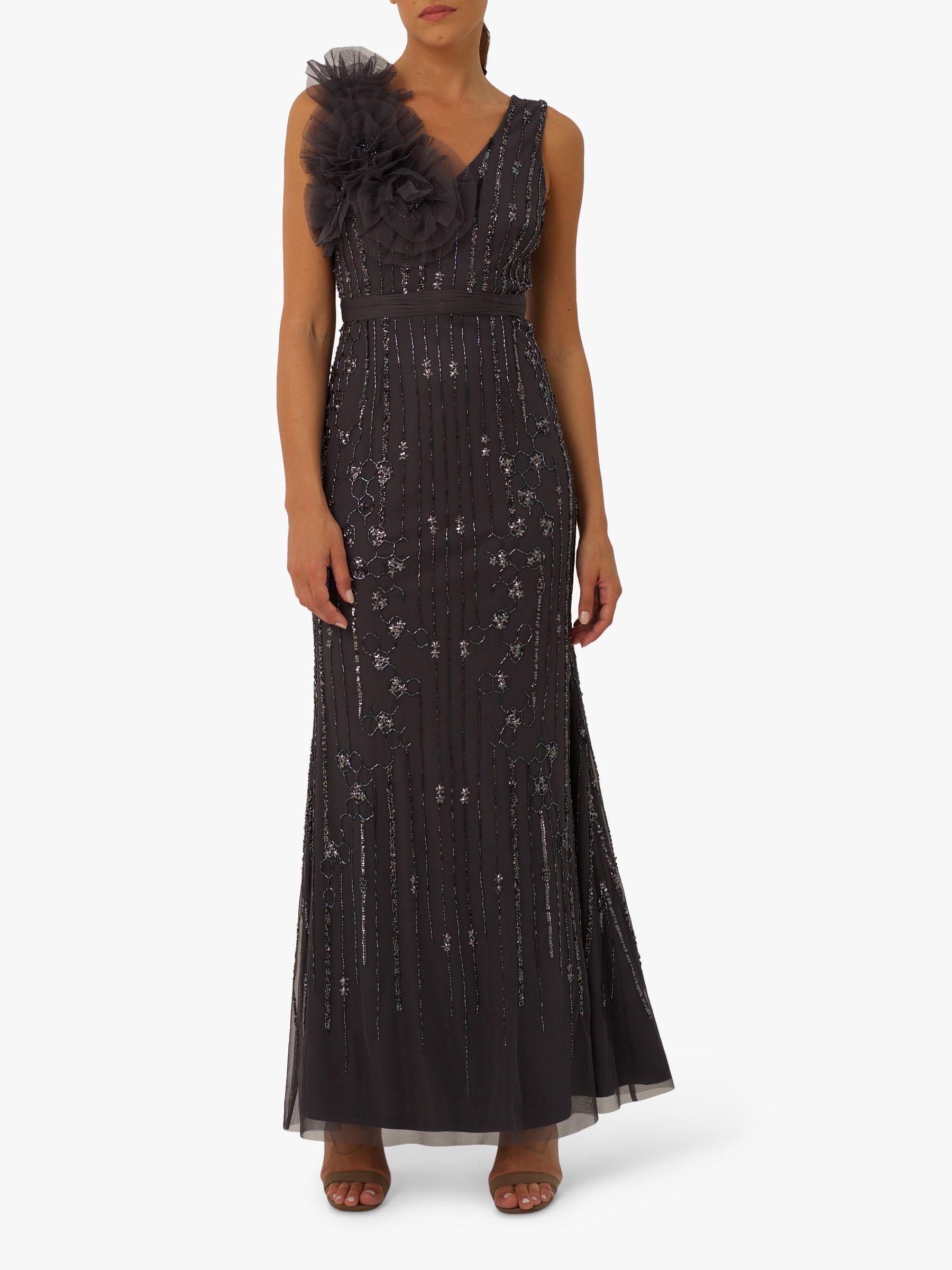 RAISHMA Raishma Tallulah Embellished Dress, Grey