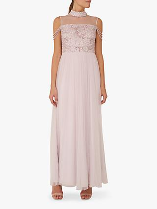 Raishma Paisley Embellished Dress, Light Lilac
