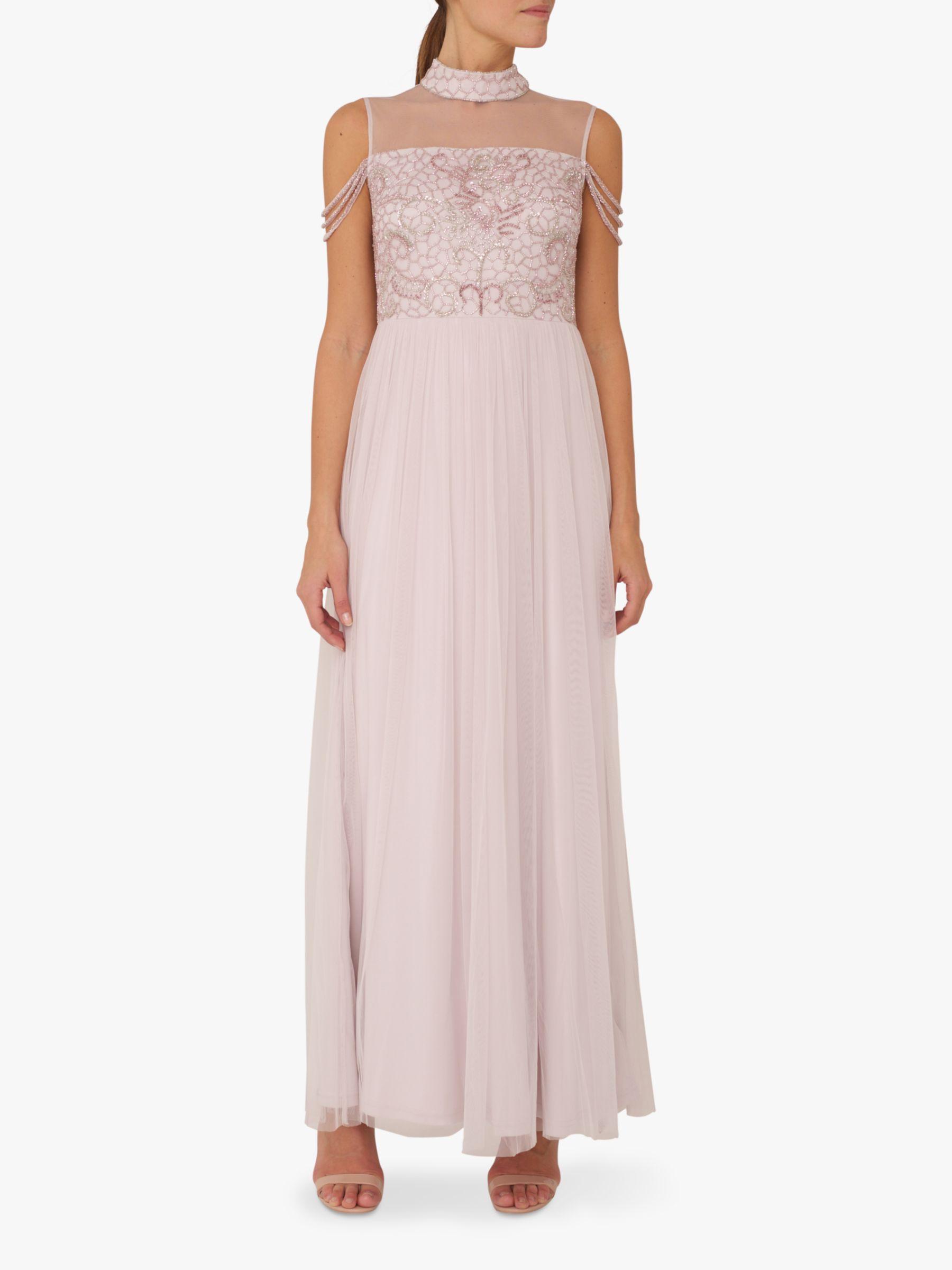 RAISHMA Raishma Paisley Embellished Dress, Light Lilac