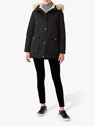 Hobbs Florence Quilted Coat, Black