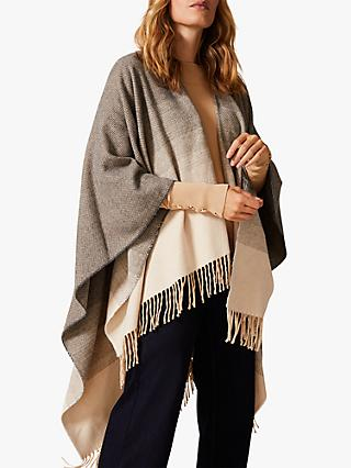 Phase Eight Kasia Ombre Cape, Grey/Ivory