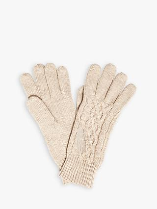 Phase Eight Kora Cable Knit Gloves, Oatmeal