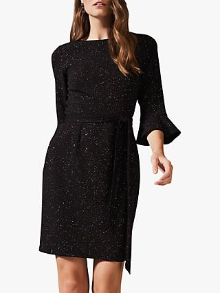 Phase Eight Varya Glitter Dress, Black