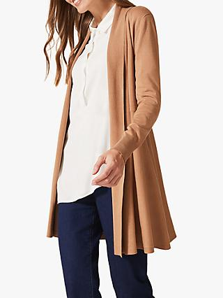 Phase Eight Lili Longline Cardigan, Camel