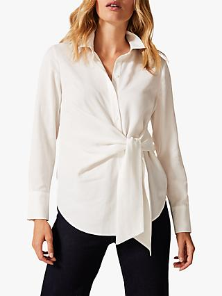 Phase Eight Ash Tie Side Shirt, Ivory
