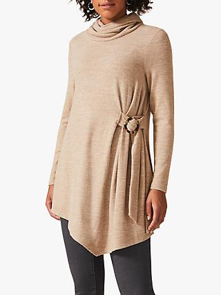 Phase Eight Horatio Buckle Tie Side Longline Snuggle Top, Neutral