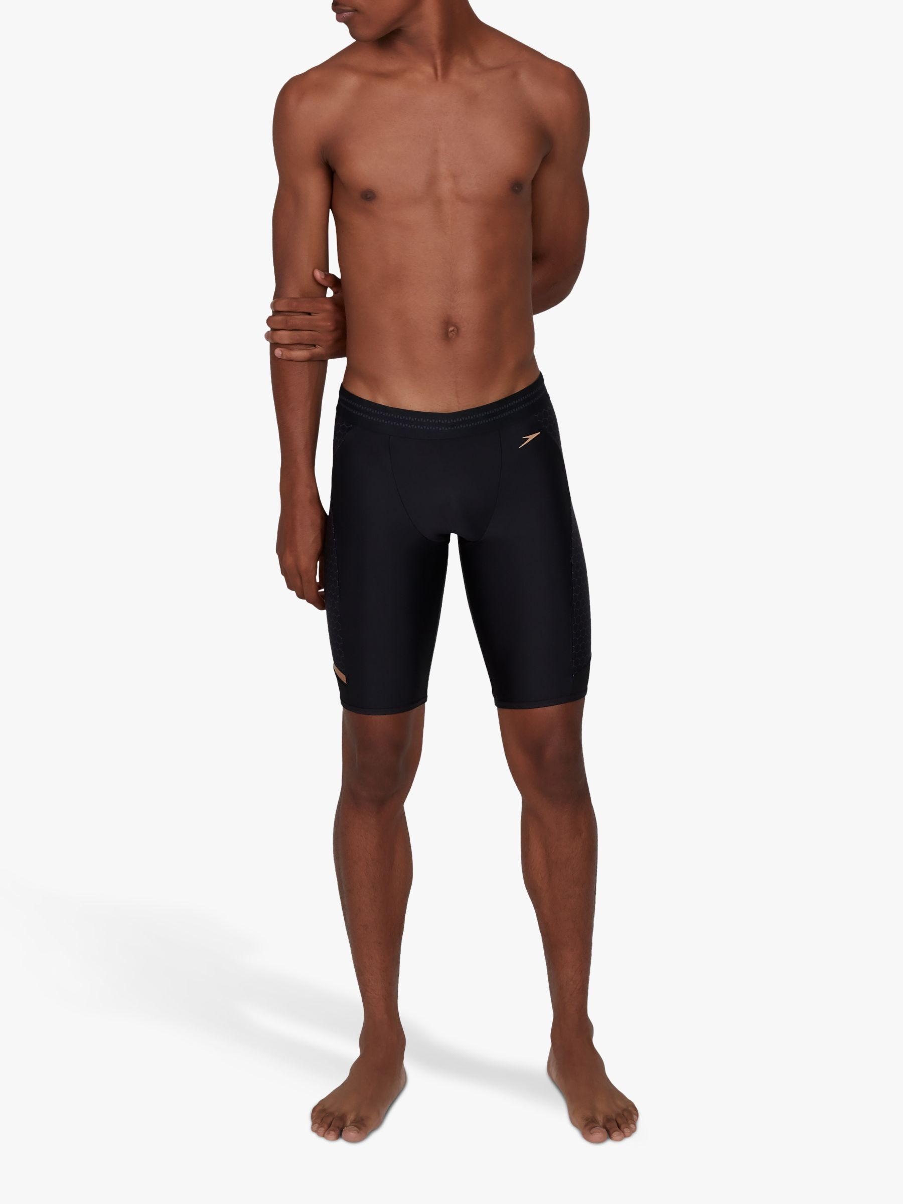 Speedo Speedo Hexagonal Mesh Jammer Swim Shorts, Black/USA Charcoal