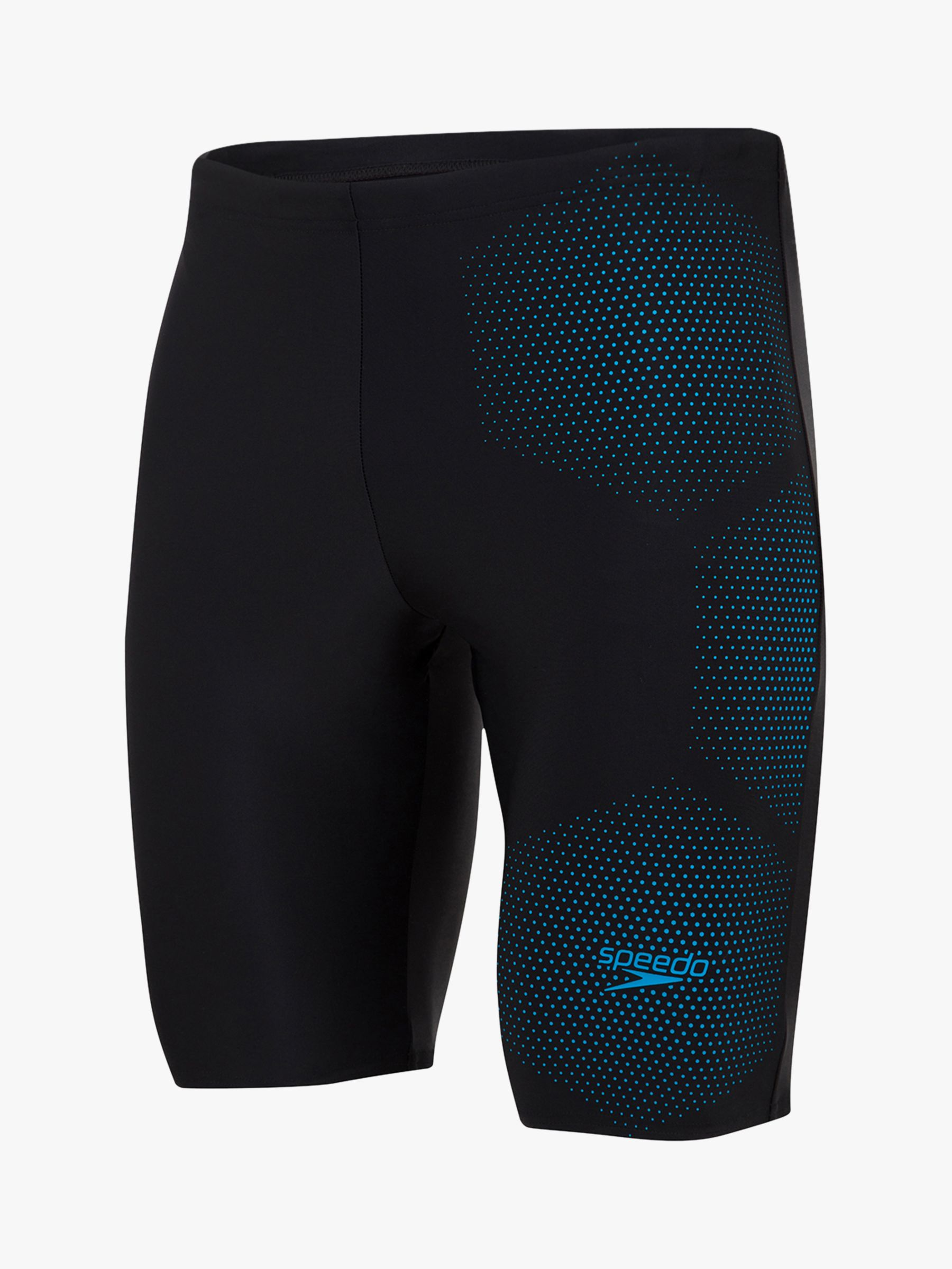 Speedo Speedo Tech Logo Jammer Swim Shorts, Black/Pool Blue