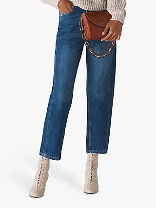 Whistles High Waist Barrel Leg Jeans