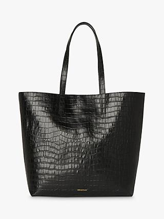 Whistles Denmark Croc Leather Tote Bag, Back