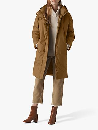 Whistles Cami Casual Puffer Jacket, Khaki