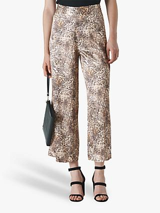 Whistles Big Cat Print Trousers, Multi