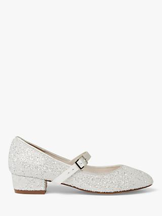 Rainbow Club Edith Glitter Bridesmaids' Shoes, Ivory Snow