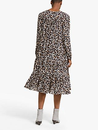 AND/OR Abstract Animal Print Dress, Natural