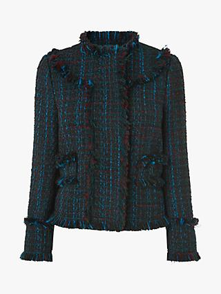 L.K.Bennett Josie Tweed Jacket, Blue