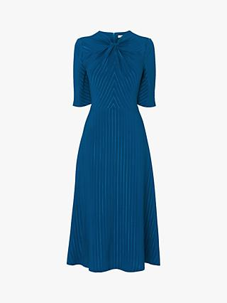 L.K.Bennett Mariann Stripe Midi Dress, Teal
