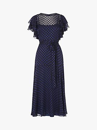 L.K.Bennett Ello Tie Waist Dress, Midnight