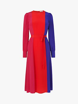 L.K.Bennett Hanbury Silk Colour Block Dress, Multi