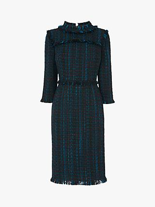 L.K.Bennett Josie Tweed Dress, Blue