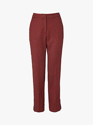 L.K.Bennett Ingrid Houndstooth Trousers, Multi/Orange