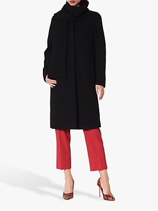 L.K.Bennett Mimi Wool Coat, Black