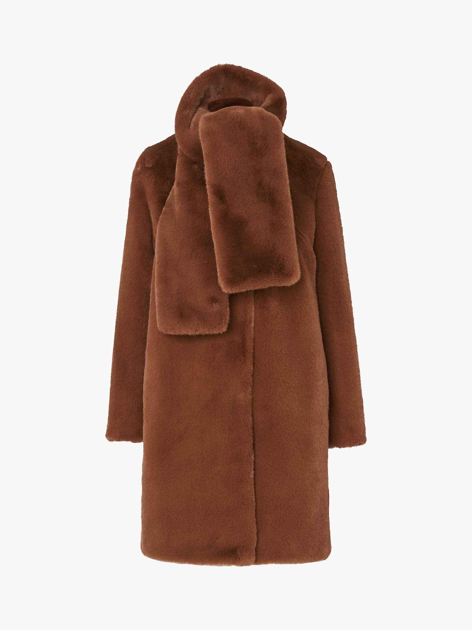 L.K.Bennett Aspen Faux Fur Coat, Light Brown by L.K.Bennett
