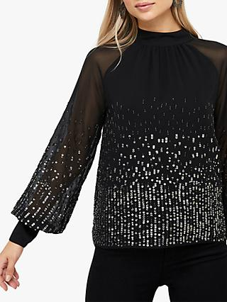 Monsoon Leah Sequin Top