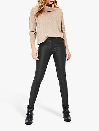 Oasis Coated Lily Skinny Jeans, Black