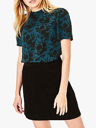 Oasis Shadow Floral Blouse, Green/Multi