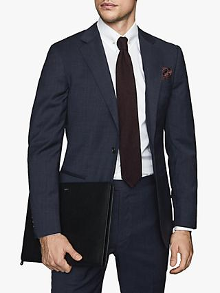 Reiss Grit Wool Blend Slim Fit Suit Jacket, Navy