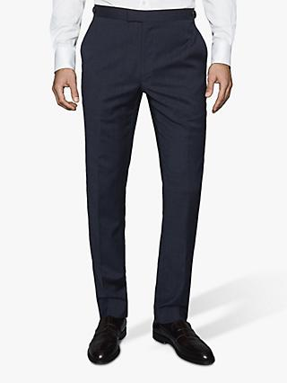 Reiss Grit Wool Blend Slim Fit Suit Trousers, Navy
