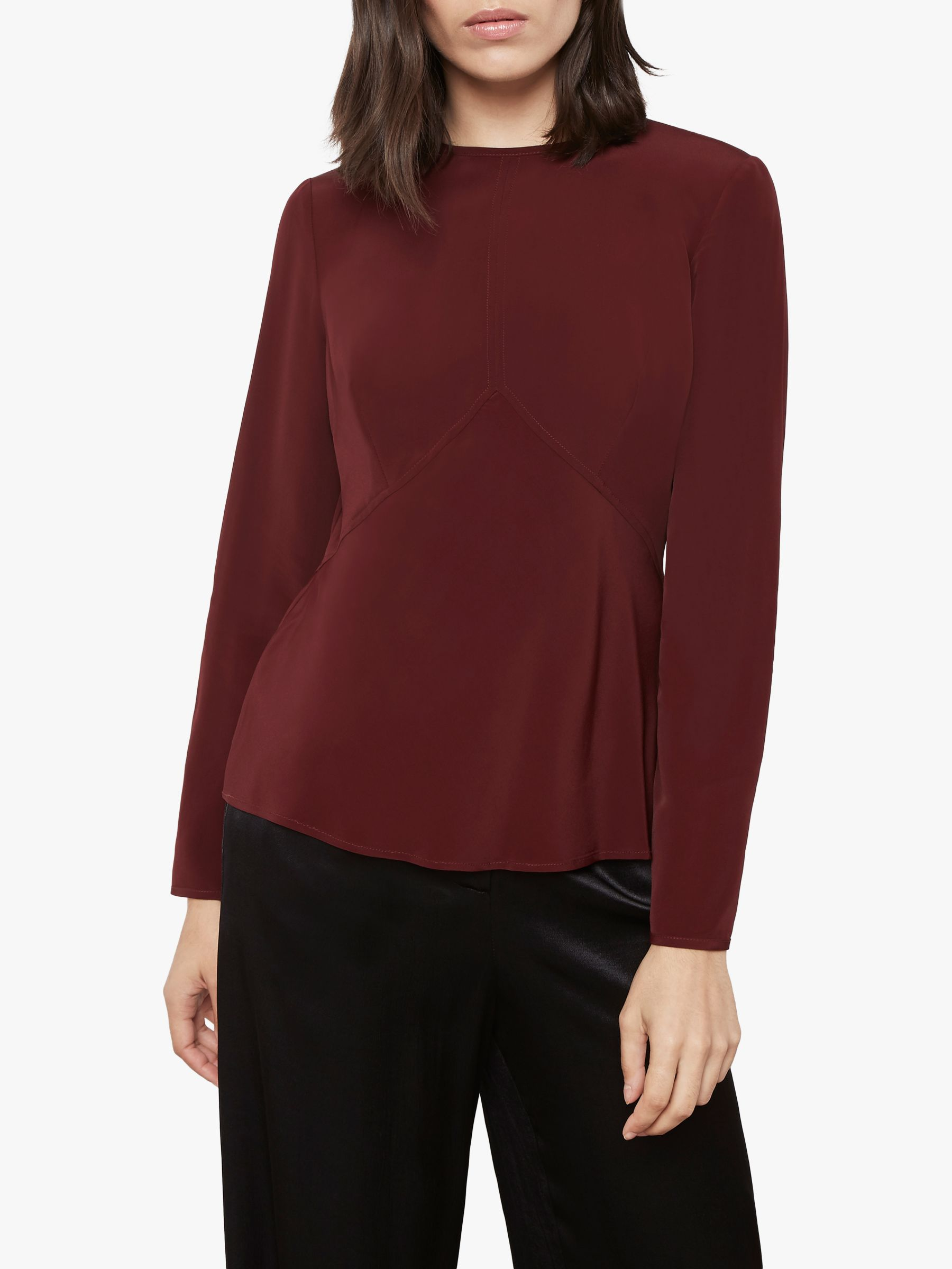 Finery Finery Abbot Tie Back Top, Red